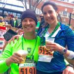 Doing what we do best: drinking and running.